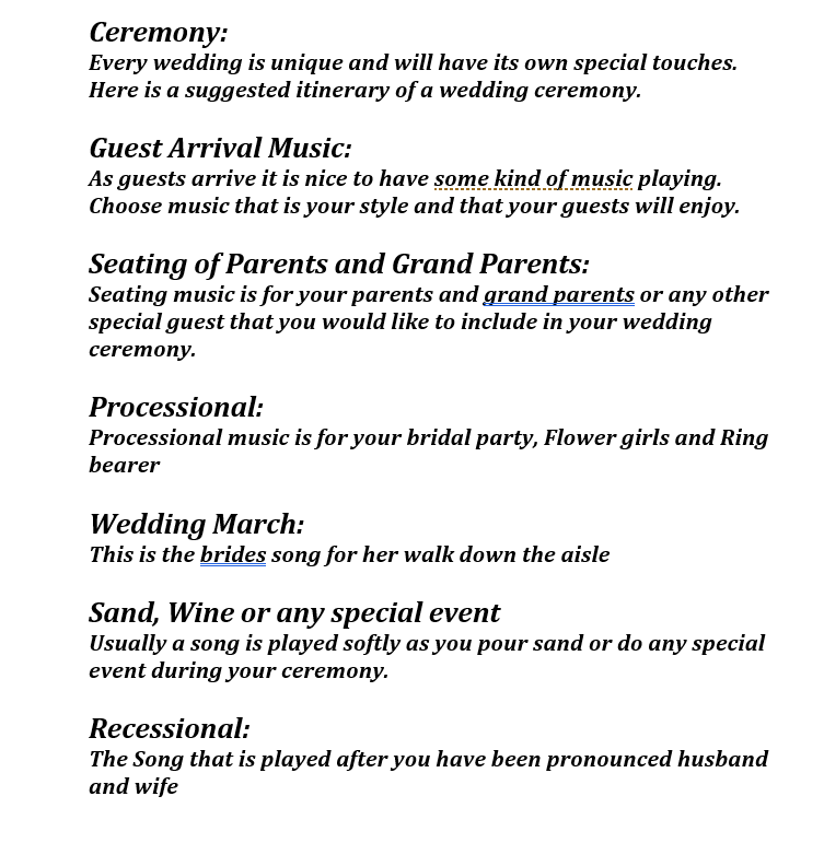 Wedding Ceremony Songs.Curated Ceremony Songs From Our Epic Brides Epic 1 Entertainment